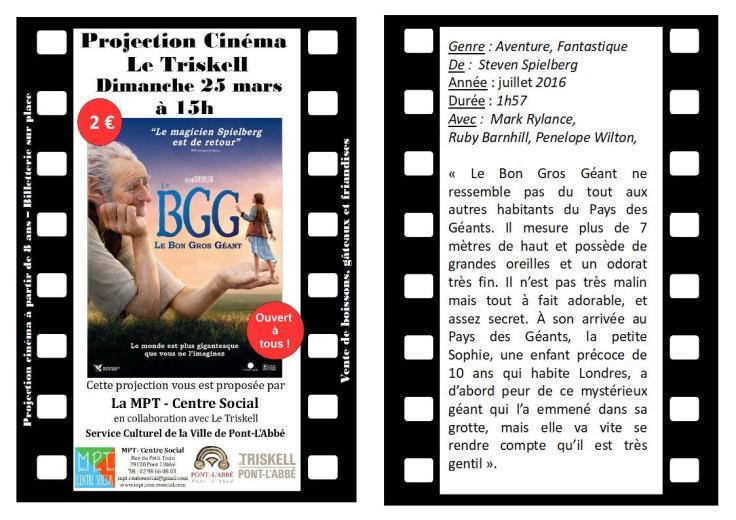 flyer cinéma BGG